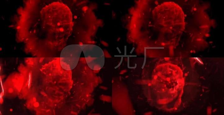 闪电冲击波粒子骷髅头大气VJ素材