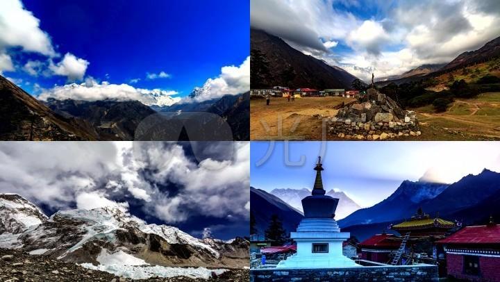 喜玛拉雅山圣峰藏区高原延时摄影