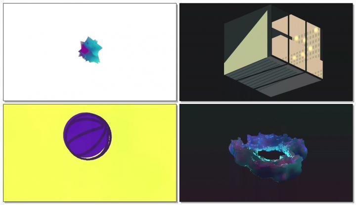 动感几何背景视频
