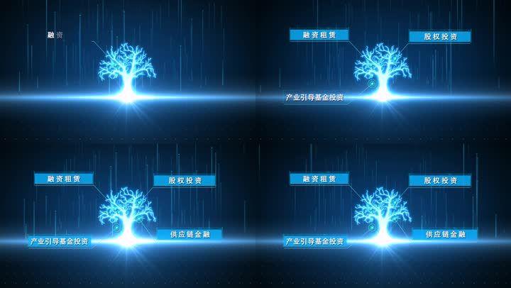 粒子科技大树文字孵化出字专题ae包装