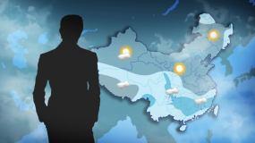 天气预报地图科技大气震撼台风云AE模板