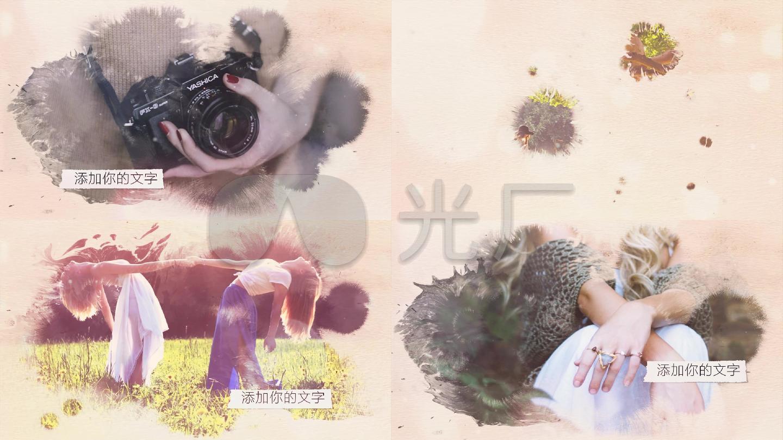 会声会影清新水墨婚礼写真视频模板
