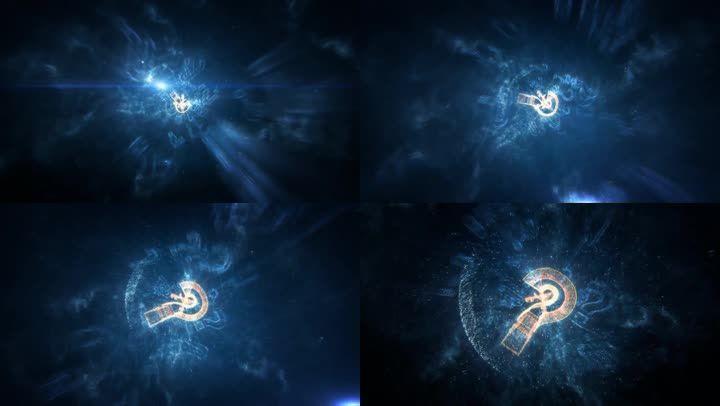 问号穿梭穿进推进空间3d三维动画视频素材