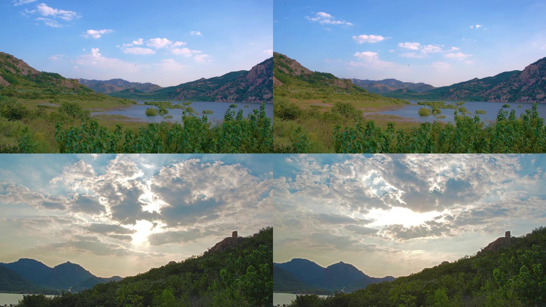 青岛自然风景水库延时4K