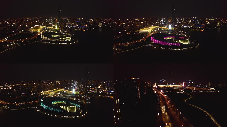 苏州艺术中心航拍4K