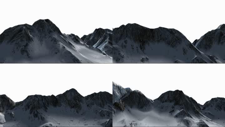 带透明通道雪山山峰山脉视频素材