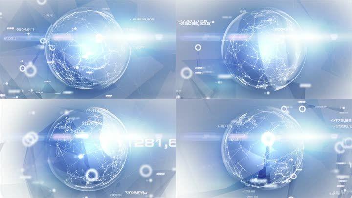 科技感循环地球背景