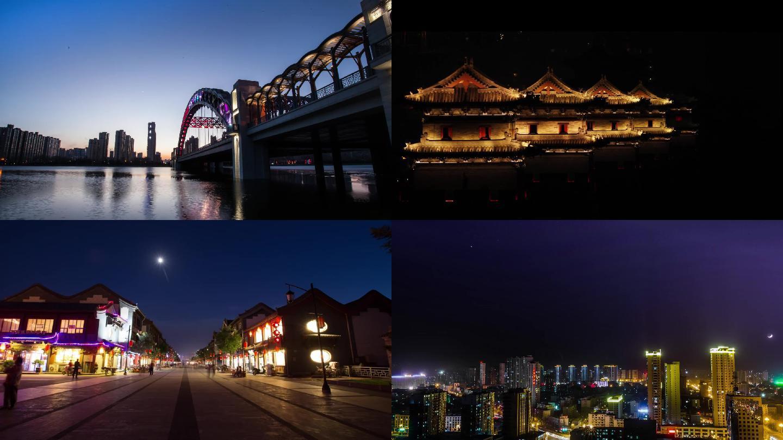 大同城市夜景延时拍摄