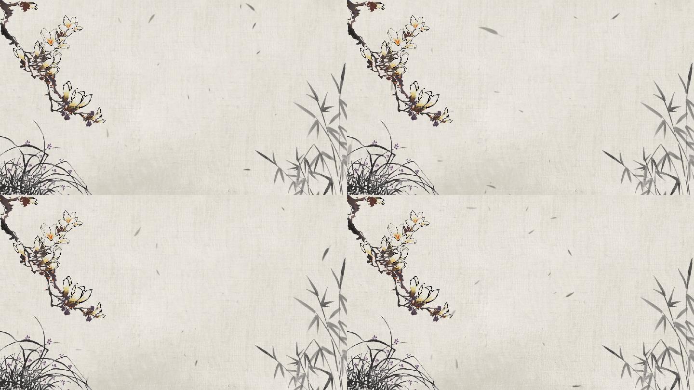 梅兰水墨文字字幕排版