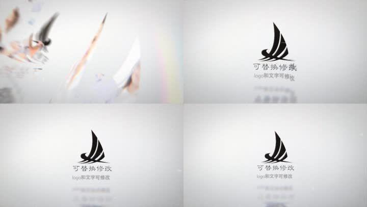 简洁logo覆盖叠加片头模板