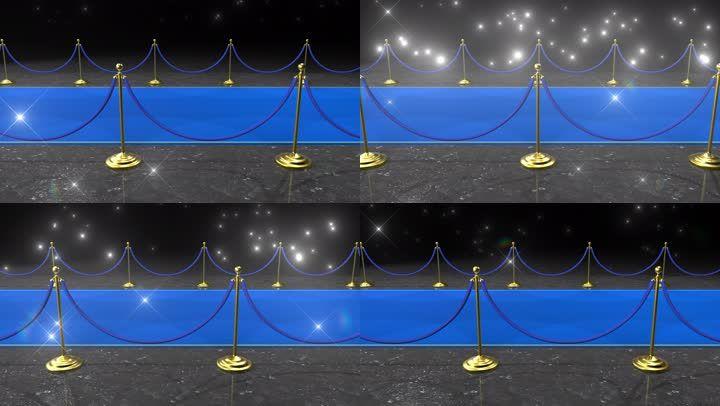 星光闪耀的蓝地毯