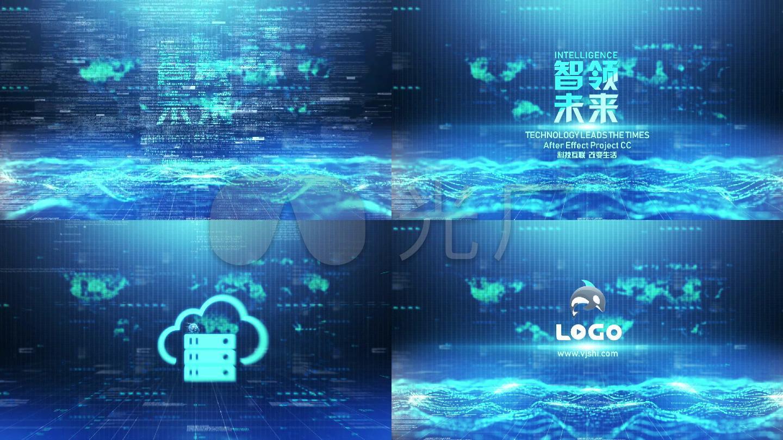Logo演绎人工智能科技片头