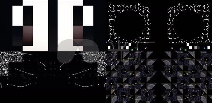 抽象几何光影闪烁酒吧vj投影背景