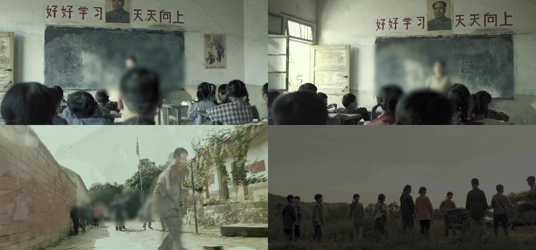 农村孩子上学玩耍
