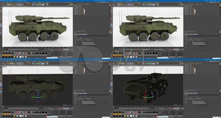 C4D工程文件--装甲车