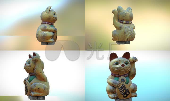 578招财猫三维模型(obj)