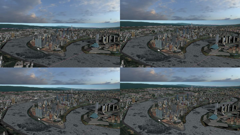 重庆城市完整3DMAX模型