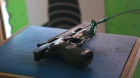 射击、手枪、半自动步枪、射击场视频素材