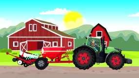 农用拖拉机播种-蔬菜种植-农业机械动画视频素材