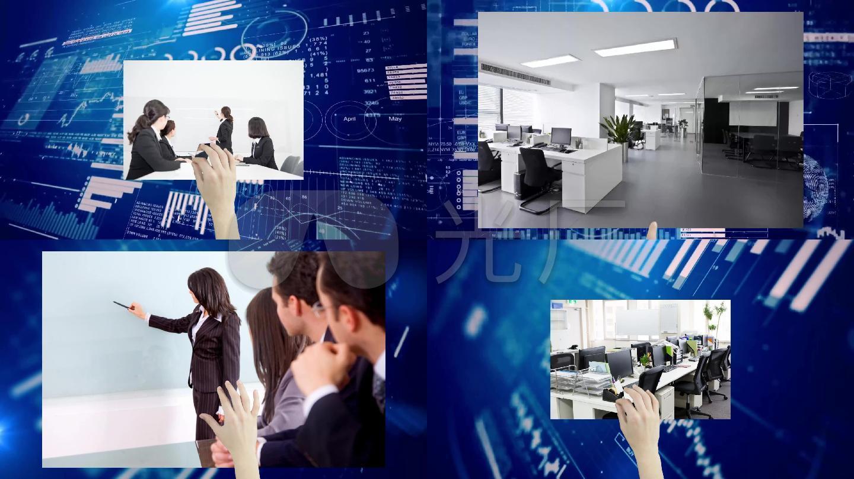 企业高科技炫酷手指播放会声会影视频模板
