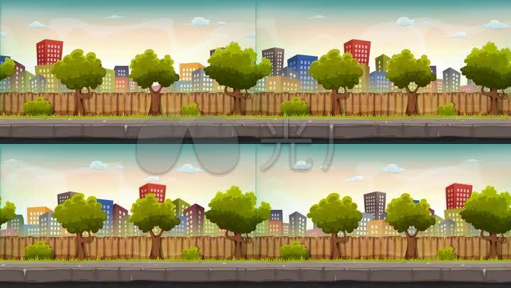 街道城市景观动画无缝循环