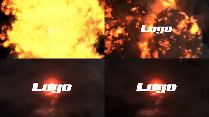 PR模板震撼火焰LOGO
