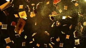 黄金质感扑克牌符号视频视频素材