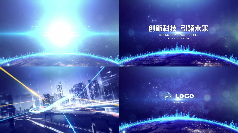 Logo演绎城市科技片头