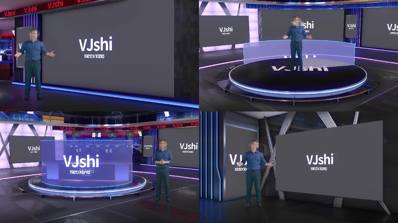 3D虚拟场景虚拟演播室