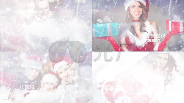 PR模板圣诞节幻灯片