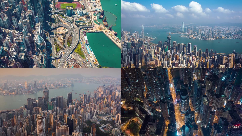 香港航拍延时大气镜头