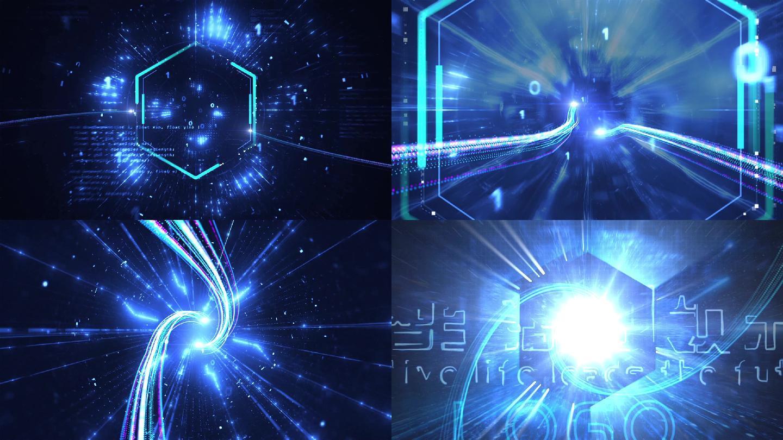 震撼科技光线穿梭片头