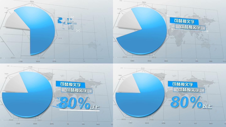 商务企业简饼状图数据分析展示动画AE模板
