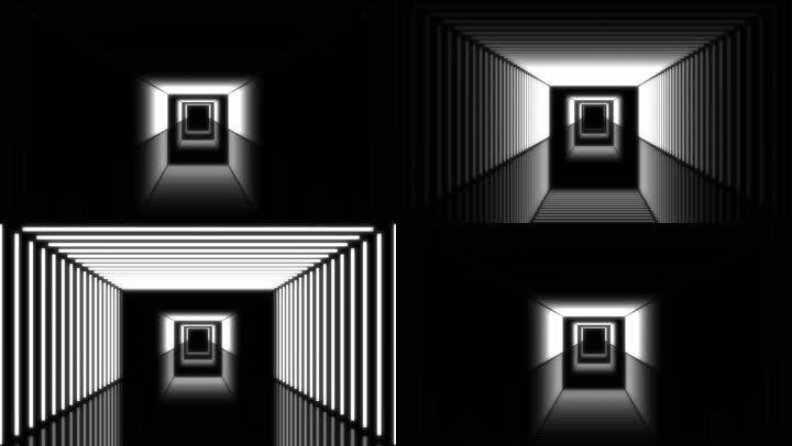 黑白隧道穿梭舞台背景