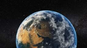地球放大穿过云层视频素材