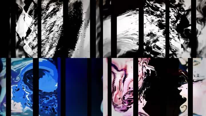 唯美绚丽水彩涂料彩色液体艺术视觉