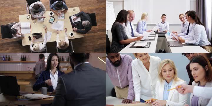 高端商务团队会议企业文化合作成功
