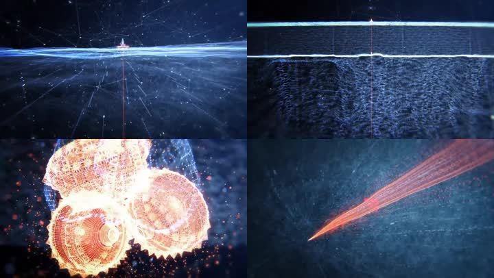 海上石油鉆井平臺-開采原油3d三維動畫