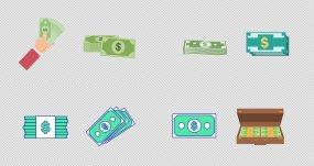卡通钞票21组【带通道】视频素材包