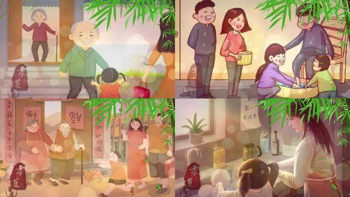 中华孝道最新LED背景视频