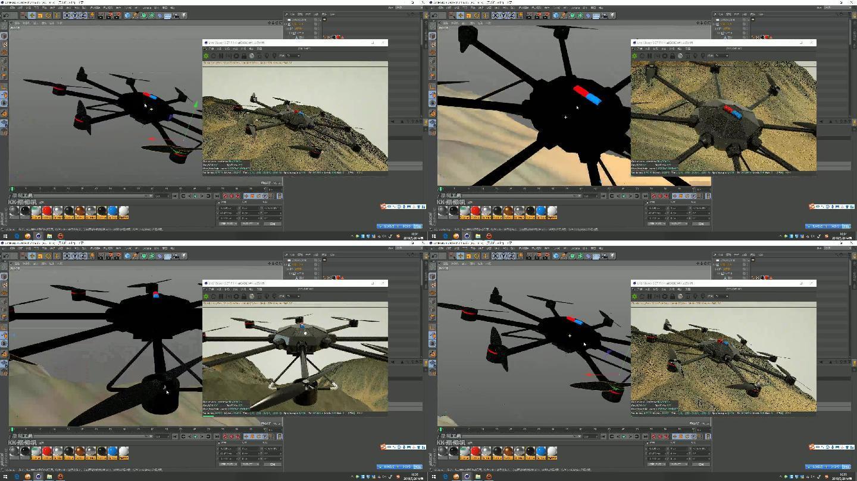 多旋翼无人机三维模型