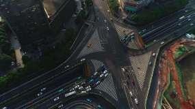 4K航拍长沙芙蓉广场五一路车流01视频素材