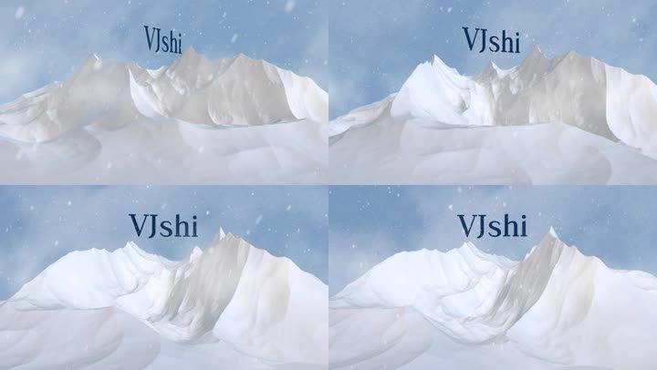 气势雪山出现logo片头展示