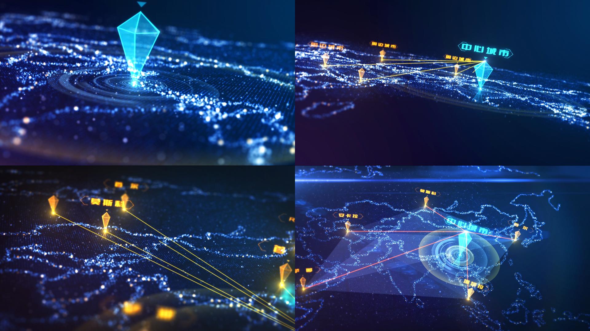 蓝色科技房地产路网地图区位