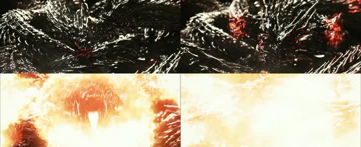 霸氣黑龍噴火