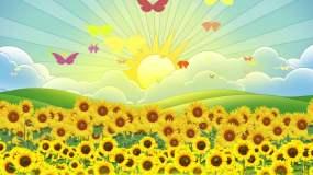 《向阳花》配乐视频视频素材