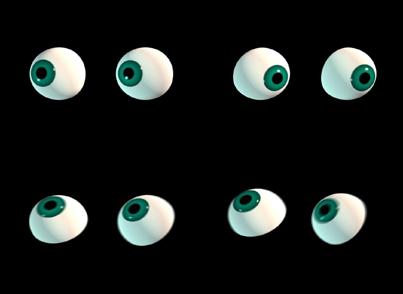 眼睛眼眼睛动画瞪眼眨眼眼珠转