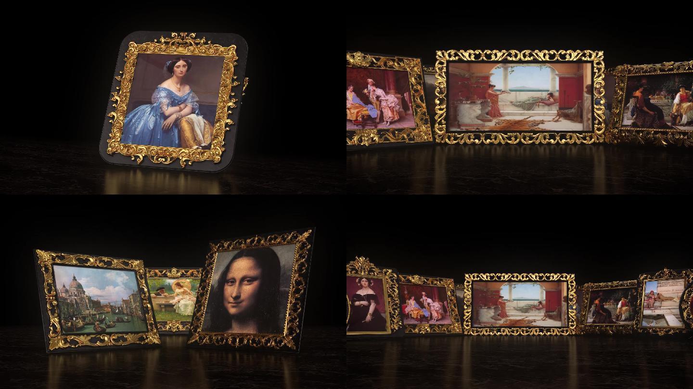 油画欣赏古典音乐晚会背景