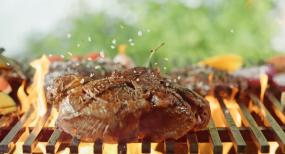 美食西餐牛排寿司烧烤升格视频素材