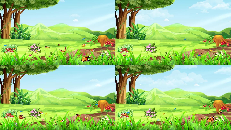 绿野仙踪清新卡通童话梦幻森林